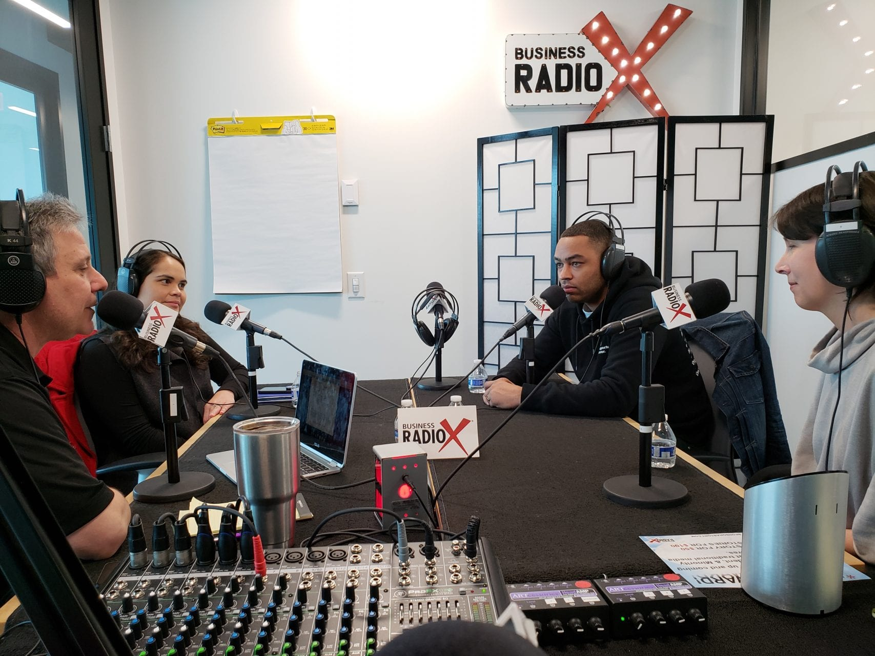 ENI Staff and Alum at Business RadioX Studios.